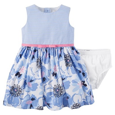 Just One You™Made by Carter's® Baby Girls' Dress - Blue Multi NB
