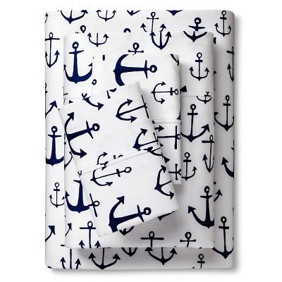 Anchor Sheet Set (Full) Navy 4pc - Sabrina Soto™