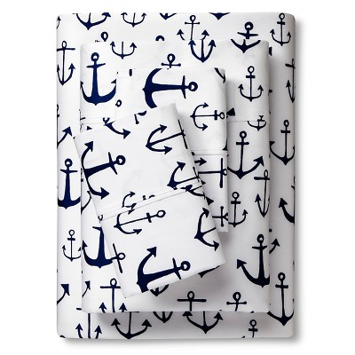 Anchor Sheet Set (Queen) Navy 4pc - Sabrina Soto™