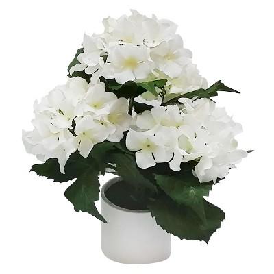Threshold™ Large Hydrangea in Ceramic Pot - White