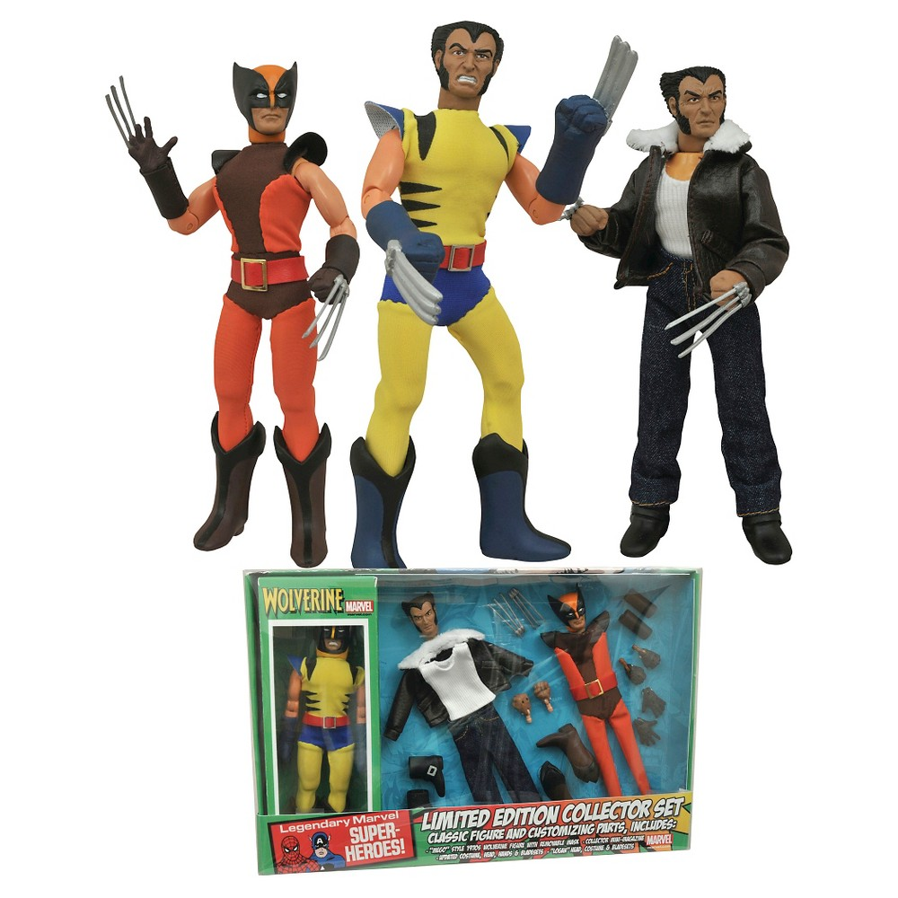 Diamond Select Toys Marvel Wolverine 8 Inch Retro Action Figure Set