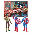 Diamond Select Toys Marvel Limited Edition Captain America 8 Inch Retro Action Figure Set