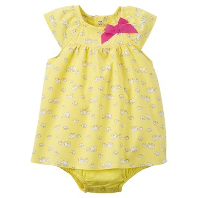 Just One You™Made by Carter's® Baby Girls' Print Sunsuit - Yellow 9M