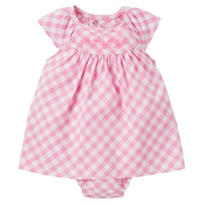 Just One You™Made by Carter's® Baby Girls' Checked Sunsuit - Pink 6M