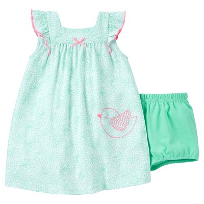 Just One You™Made by Carter's® Baby Girls' Floral Bird Dress - Green 6M