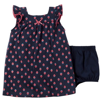 Just One You™Made by Carter's® Baby Girls' Strawberry Dress - Navy/Red NB