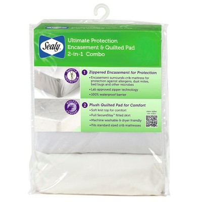 Sealy® Ultimate Protection Encasement and Quilted Crib Mattress Pad Combo