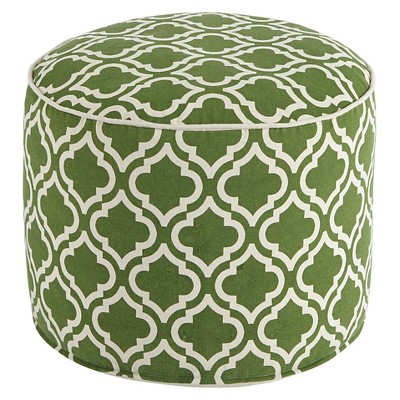 Geometric Pouf - Green/White - Signature Design by Ashley