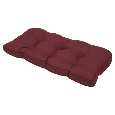 Outdoor Tufted Settee Cushion - Oxblood - Smith & Hawken™