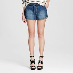 Women's Knit Denim Jogger Short Dark Wash - Mossimo®