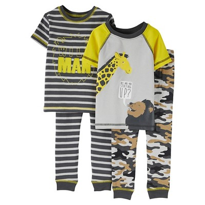 18M Baby Boys' Snug Fit Cotton 4-Piece Pajama Set - Just One You™ Made by Carter's®