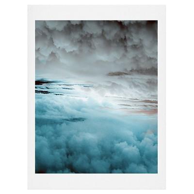 DENY Designs Caleb Troy Glacier Painted Clouds Art Print