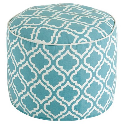 Geometric Pouf - Turquoise - Signature Design by Ashley