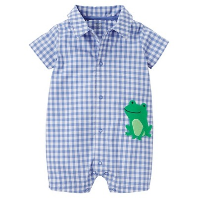 Just One You™Made by Carter's® Baby Boys' Gingham Frog Romper - Blue 3M