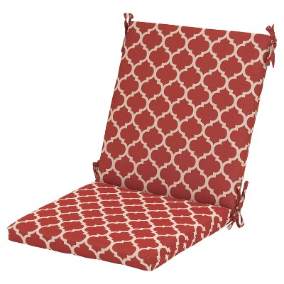Threshold™ Outdoor Chair Cushion - Red Ogee