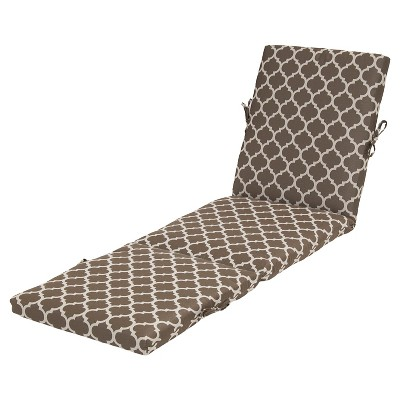 Threshold™ Outdoor Chaise Cushion - Taupe Ogee