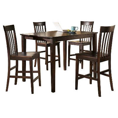 5 Piece Hyland Counter Height Table Set Reddish Brown - Signature Design by Ashley
