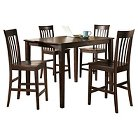 Hyland Counter Height Table Set (5 Piece) - Reddish Brown - Signature Design By Ashley