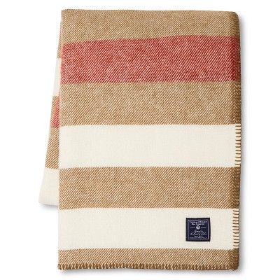 Faribault for Target Stripe Wool Throw - Chestnut