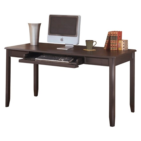 carlyle home office large leg desk almost black target