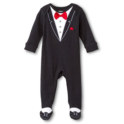 Newborn  Boys' Classic Fit Footed Tuxedo Coveralls - Newborn Black