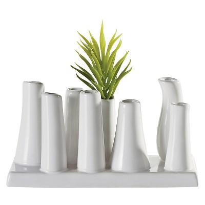 Eva Multi Tube Vase - White - Torre & Tagus