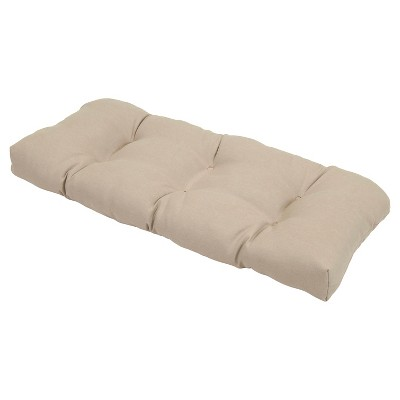 Outdoor Tufted Settee Cushion - Tan - Threshold™