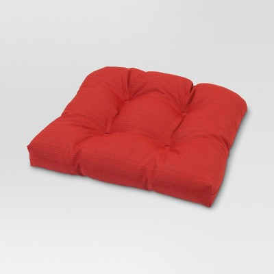 Threshold™ Outdoor Tufted Seat Cushion - Red