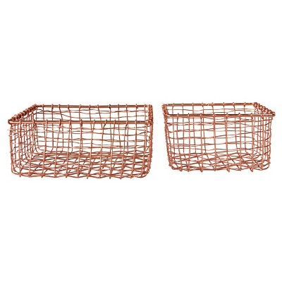 "Metal Baskets - (8-1/4""L S/2)"