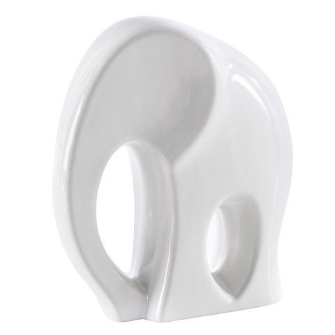 Short Ceramic Elephant D Cor Statue White To Target