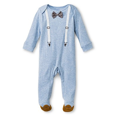 Newborn  Boys' Classic Fit Footed Suspender Coveralls - Newborn Blue