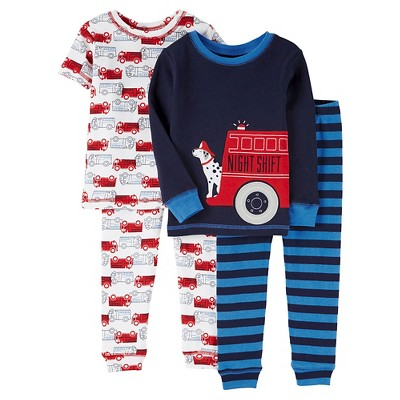 Baby Boys' 4 Piece Shore Sleeve/Long Sleeve PJ Set Blue 12M - Just One You™Made by Carter's®
