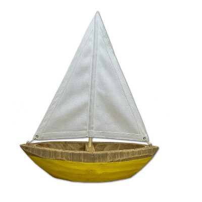 Threshold™ Wooden Boat with Natural Canvas Large Size