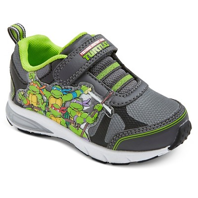 Toddler Boys' Teenage Mutant Ninja Turtles Light Up Sneakers - Grey 11