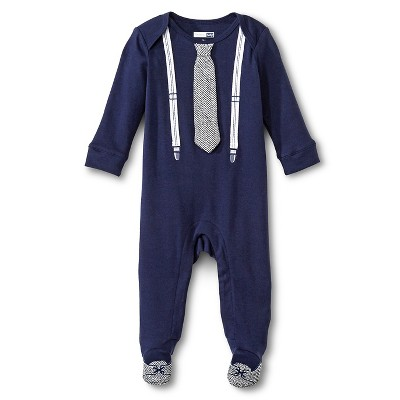 Newborn  Boys' Classic Fit Footed Suspender Coveralls -Newborn Navy Blue