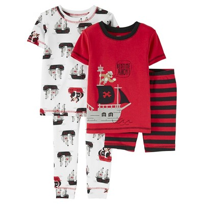 12M Baby Boys' Snug Fit Cotton 4-Piece Pajama Set - Just One You™ Made by Carter's®