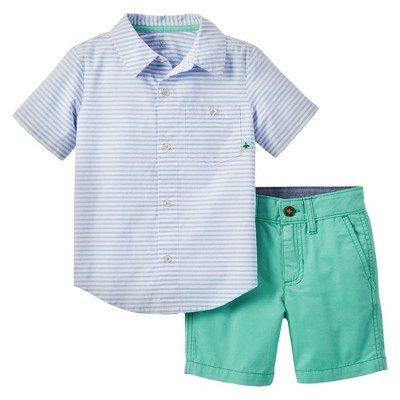 Just One You™ Made by Carter's® Baby Boys' 2-Piece Short Set - Blue/Green 18M
