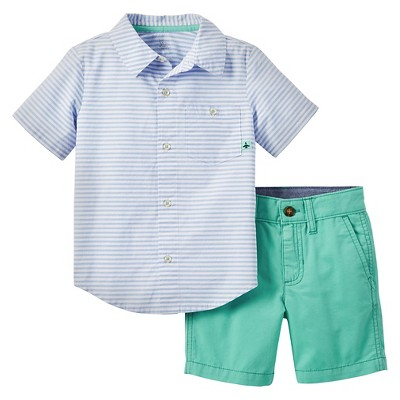 Just One You Made by Carter's™ Toddler Boys' 2-Piece Short Set - Blue/Green 3T