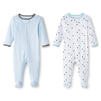 Circo™ Baby Boys' 2-Pack Footed Sleeper - Blue NB