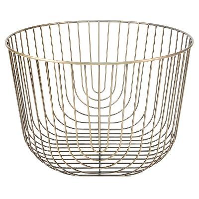 Small Round Brass Wire Basket - Threshold™