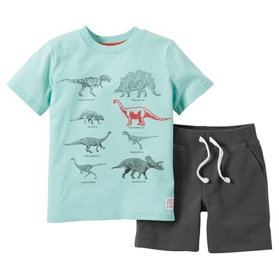 Just One You Made by Carter's™ Toddler Boys' 2-Piece Short Set - Mint/Grey 7
