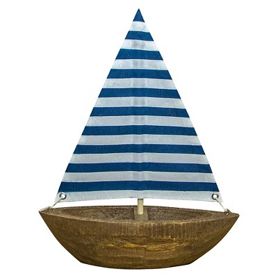 Wooden Striped Sailboat - Threshold™