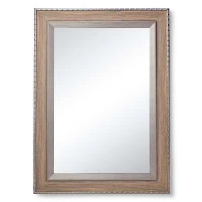 Rivet Rectangle Mirror - Washed Gray - The Industrial Shop™
