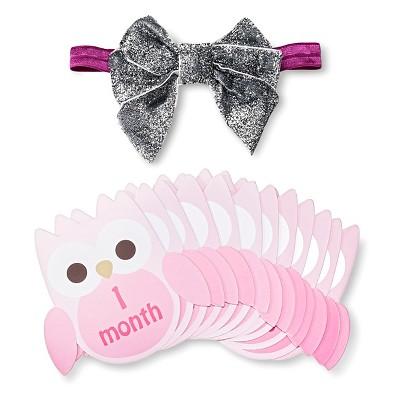Baby Birthday Milestone Sticker Headband Gift Set