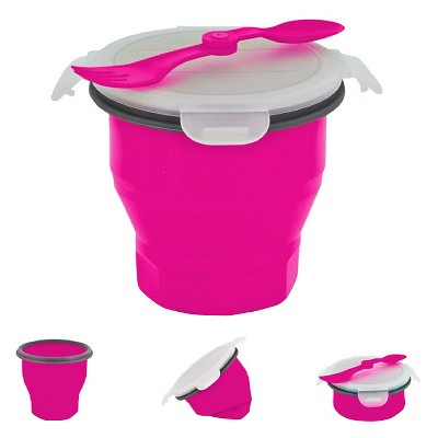 SmartPlanet Collapsible Pink Soup Bowl Kit 26 oz