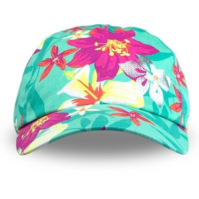 Toddler Girls' Floral Print Baseball Hat Green 12-24M - Circo™