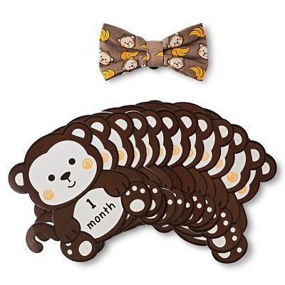Baby Birthday Milestone Sticker Bow Tie Gift Set