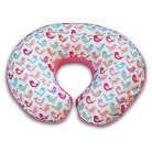 Original Boppy Pillow Slipcover - Plush with Print Bird Walk