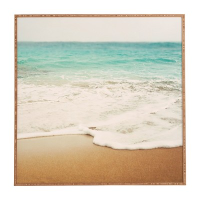 DENY Designs Bree Madden Ombre Beach Framed Wall Art