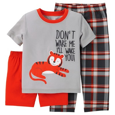 Just One You™ Made by Carter's® Baby Boys' 3-Piece Tiger Pajama Set Gray 12M